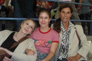 Carmen González, Cristina MJ y Renata Müller en el Memorial Blume 2009.