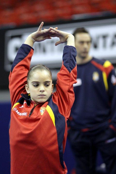 Elena Zaldivar en los entrenamientos del Europeo 2010. Foto: British-Gymnastics.