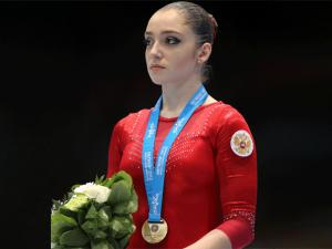 Mustafina, campeona en barra. Foto: web oficial de los Mundiales 2013
