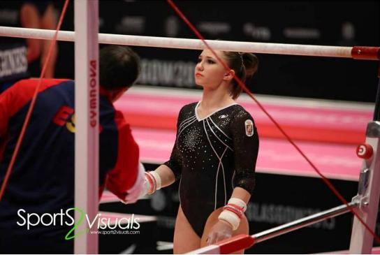 Roxana Popa en los Mundiales de Glasgow 2015. Foto: Sports Visuals.