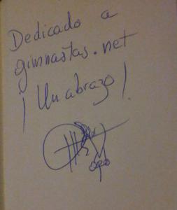 Autógrafo de Miguel Ángel Soler