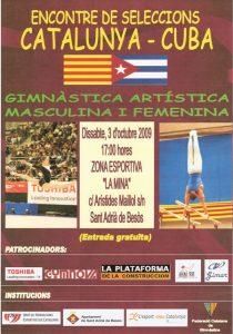 Cartel amistoso Cataluña-Cuba