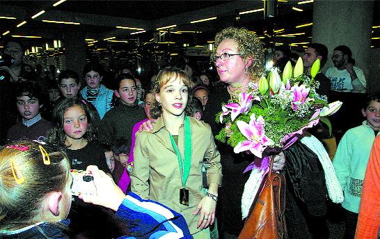 Elena Gómez y su madre