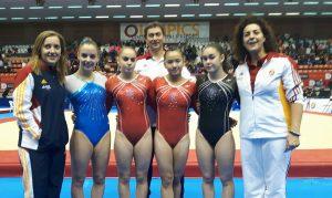 Gimnastas españolas participantes en esta edición del Memorial Blume. Foto: Club Esportiu Xelska.