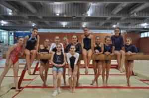 Algunas de las gimnastas españolas de los niveles 9 y 10. Foto: Lina Sáez.