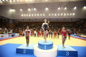 Podio de gimnasia artística femenina. Foto: Federació Catalana de Gimnàstica