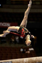 Sara Moro en el Campeonato del Mundo celebrado en Anaheim (EE UU) en 2003. Fotografía: agencia Reuters.