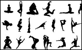 Siluetas de gimnastas